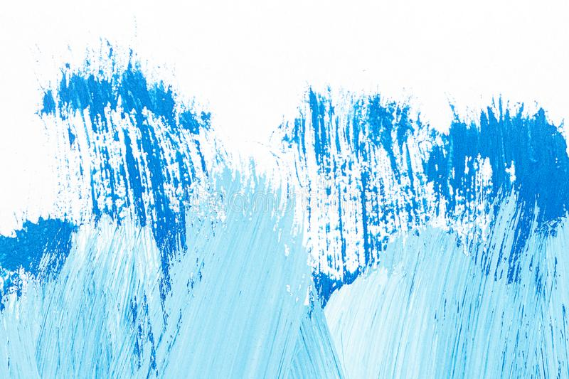 Abstract brushed blue acrylic arts background stock photography