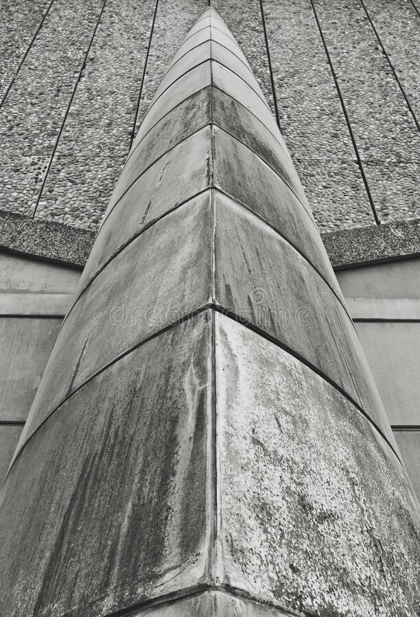 Abstract Brutalist Architecture Detail stock photo