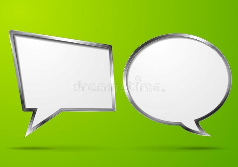 Abstract bubble speech background vector illustration