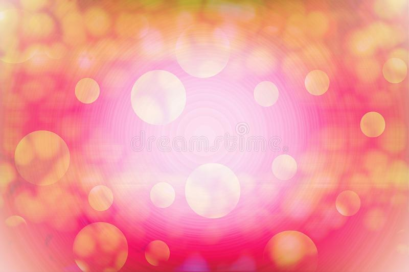 Abstract of bubbles or snow texture colors with circle like space or universe background. For elegant website, love themes, royalty free illustration