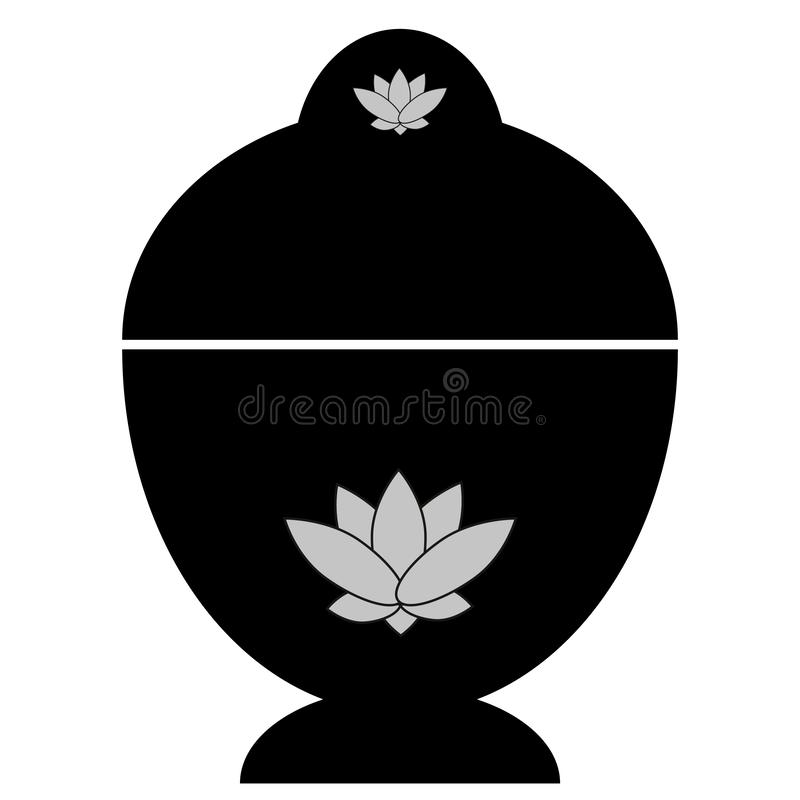 Abstract buddhist reliquary with lotus stock photography