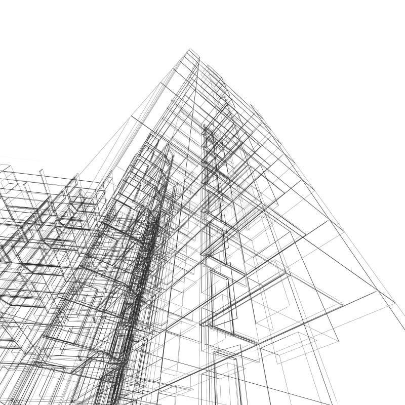 abstract building stock illustration  illustration of modern