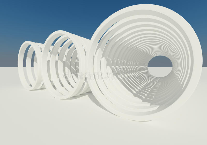 Download Abstract Building Of Circle Stock Illustration - Image: 26083947