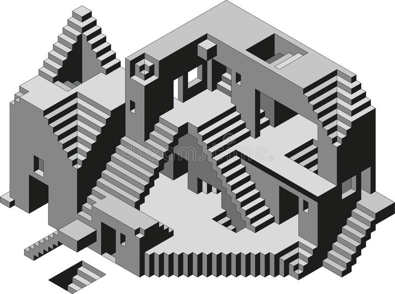 Abstract Building stock illustration