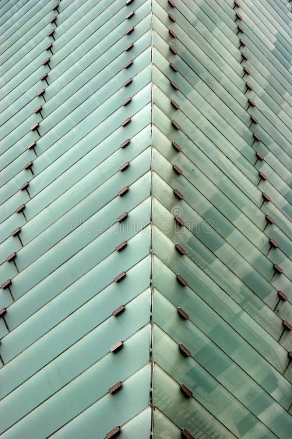 Abstract building - glass windows stock photo