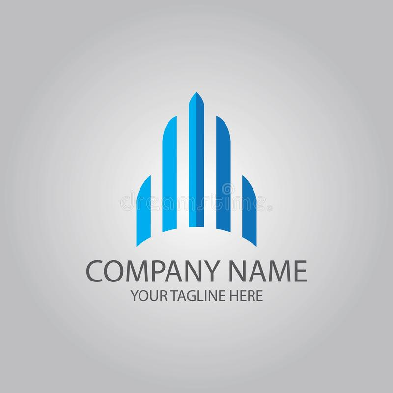 Abstract building tower construction logo vector illustration