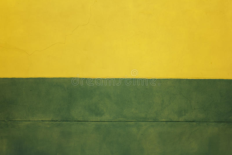 Abstract Building Wall, Two Color Wall, Orange Green Yellow Wall ...