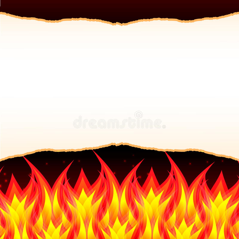Abstract burn flame fire wall vector background stock illustration