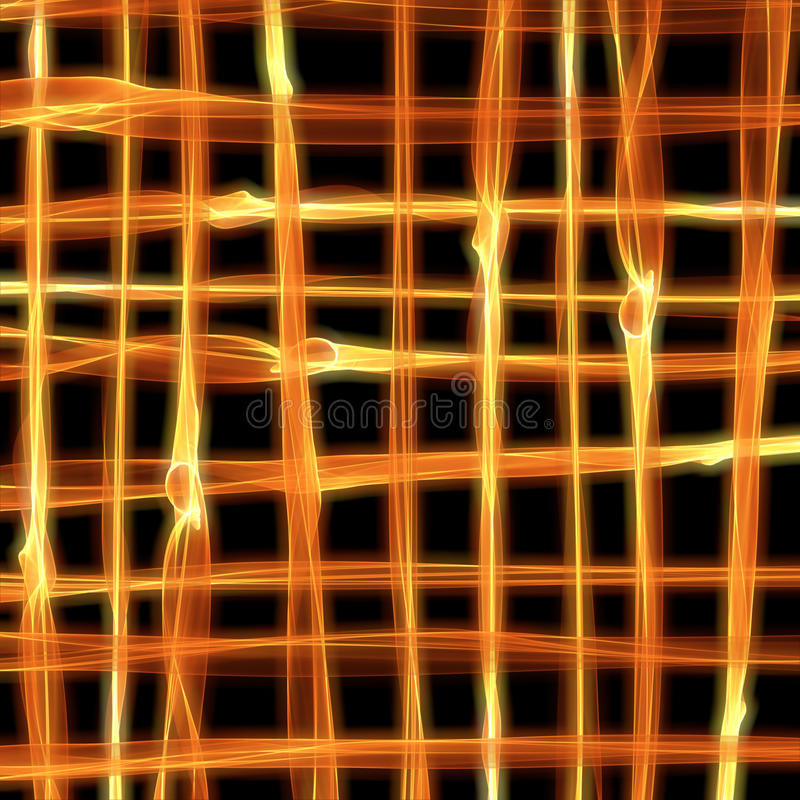 Abstract burning fire flame background in shape of grid for your design royalty free illustration