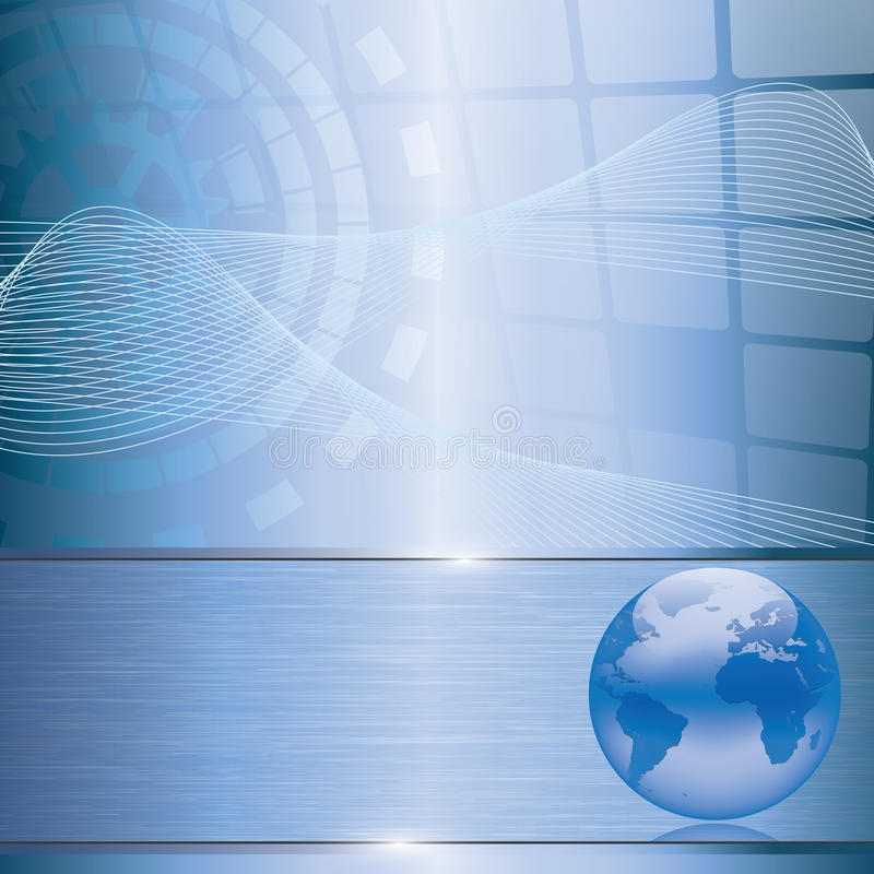 Abstract business background with earth globe. Abstract blue business background with earth globe stock illustration