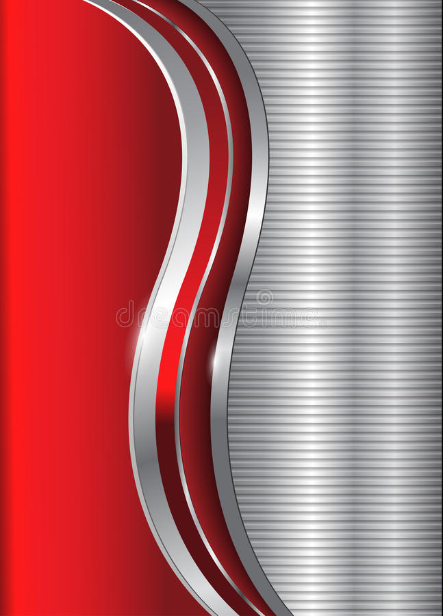 Abstract business background red silver royalty free illustration