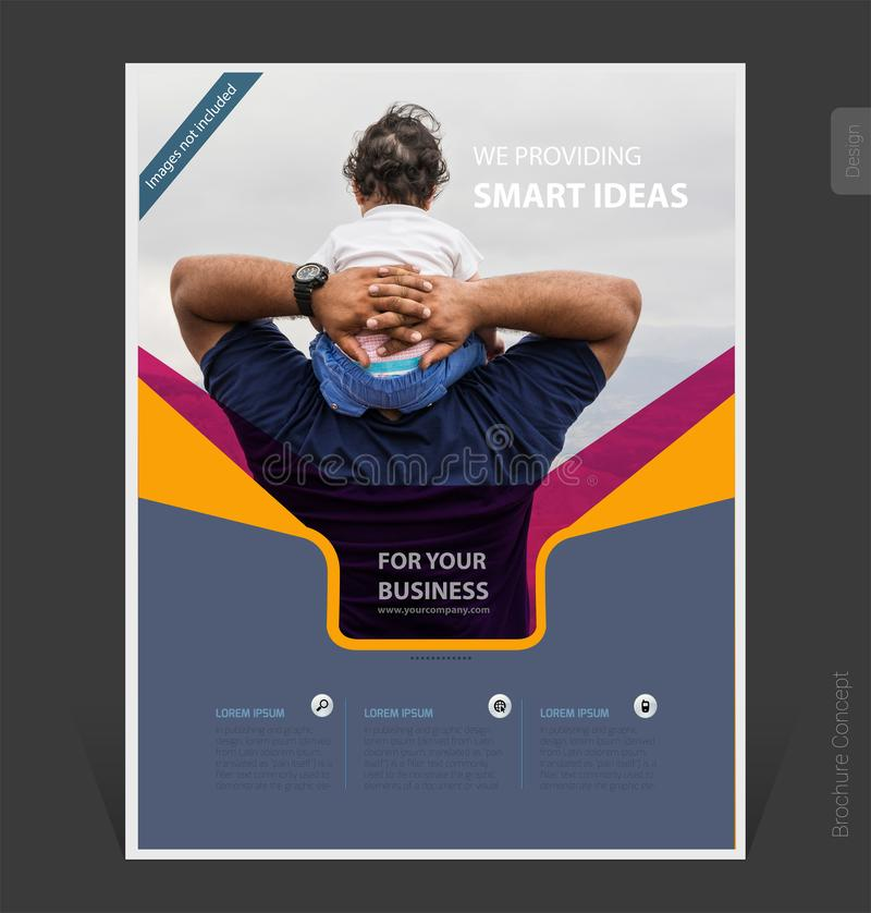 Abstract business brochure template 2019 cover design- Vector Illustration. Abstract business brochure template 2019 cover design, flyer-Vector Illustration stock photography