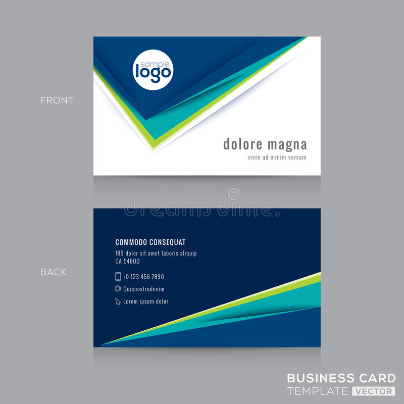 Download Abstract Business Card Design Template Stock Vector