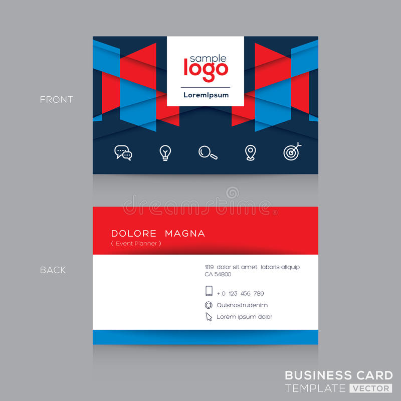 Abstract Business Card Design Template Stock Vector - Illustration ...