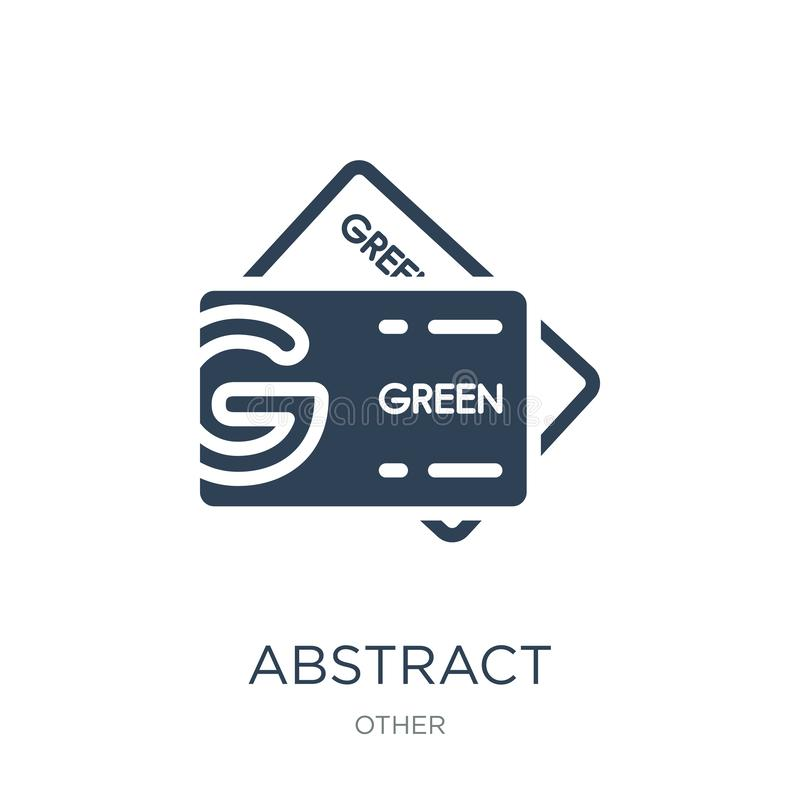 abstract business card icon in trendy design style. abstract business card icon isolated on white background. abstract business vector illustration