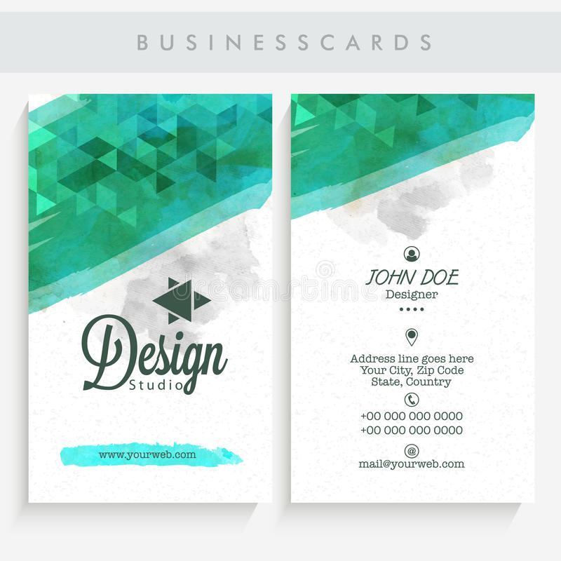 Abstract Business Card Set. Stock Image - Image: 59431221