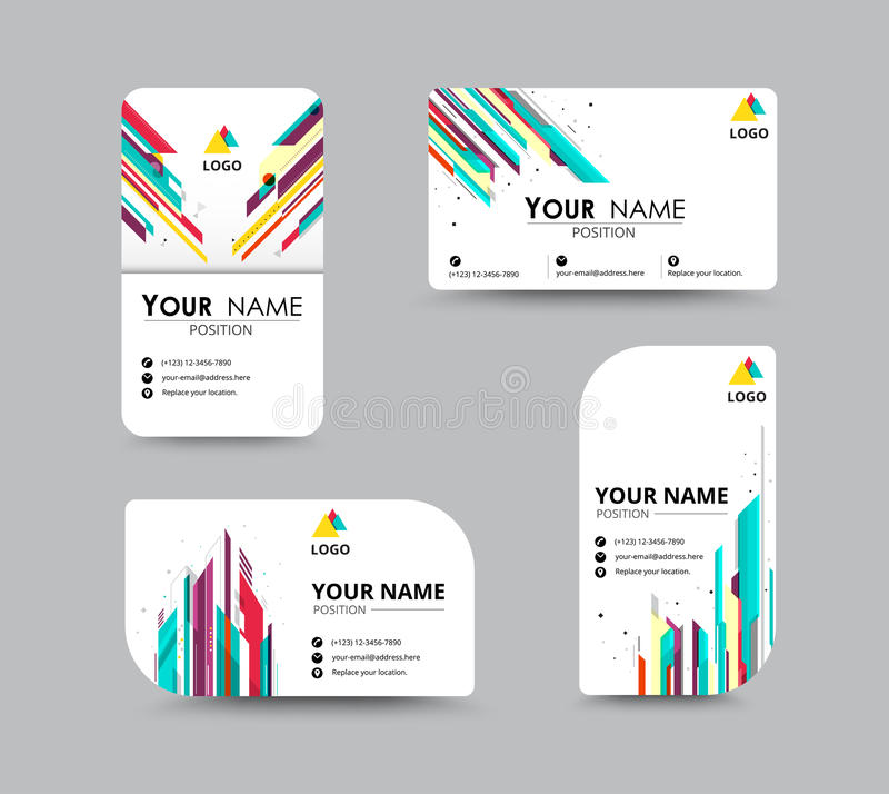 Abstract business card template with sample name position city business greeting card template design introduce card include sample text position vector illustration design colourmoves