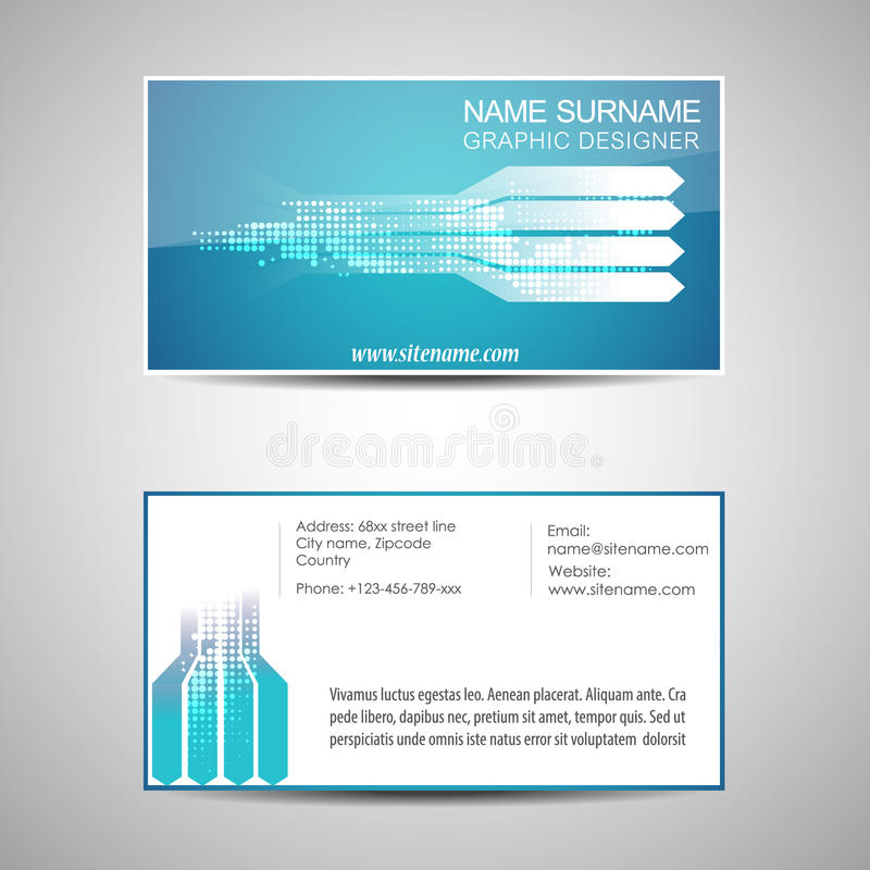 Download Abstract Business Card Template Or Visiting Card Set Stock Vector - Illustration of blank, illustration: 41445315