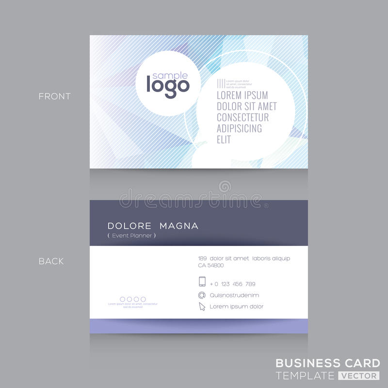 Abstract Business cards Design Template royalty free illustration