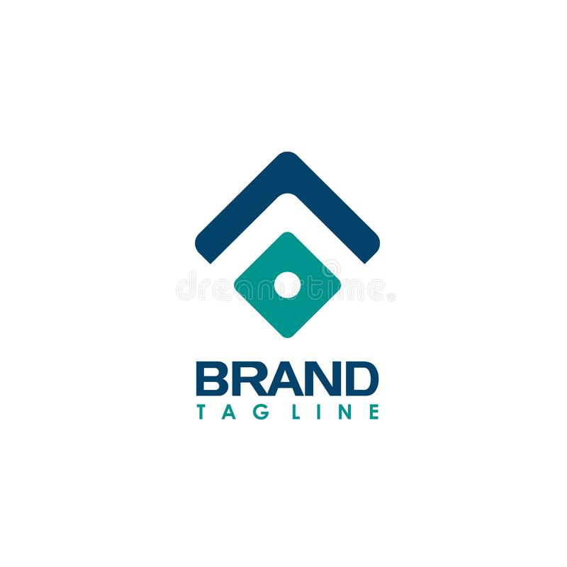 Abstract business company logo. Corporate identity design element. Technology, market, bank logotype idea. Connected arrow up, gro. Abstract design vector royalty free illustration