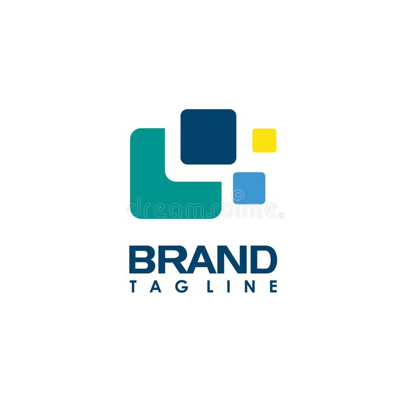 Abstract business company logo. Corporate identity design element. Technology, market, bank logotype idea. Connected arrow up, growth, progress integrate and stock illustration