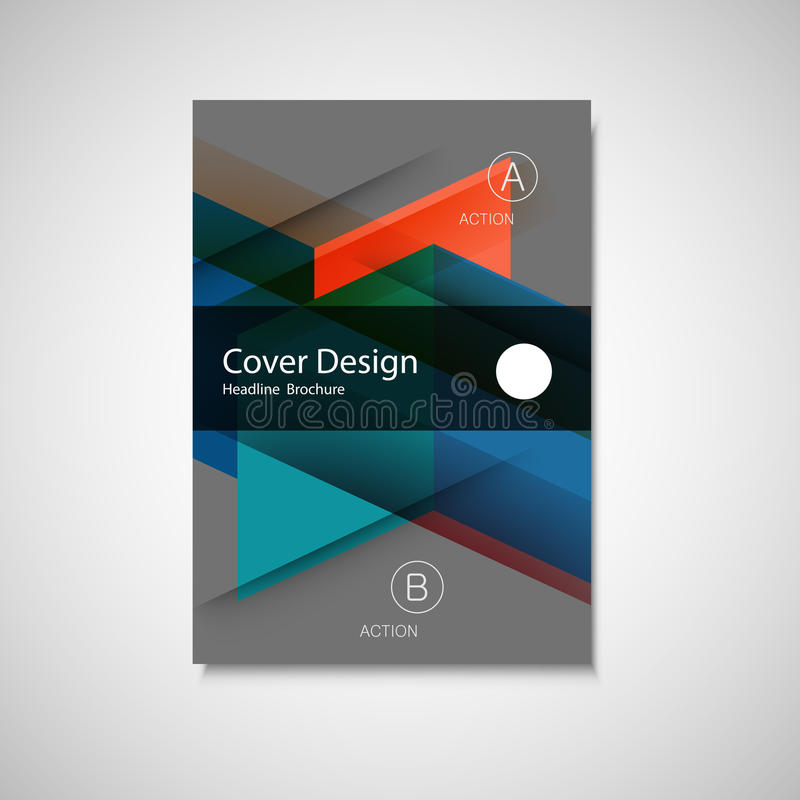 Abstract business Flyer design vector template in A4 size. Annual report or book cover. Simple style front page brochure.  stock illustration