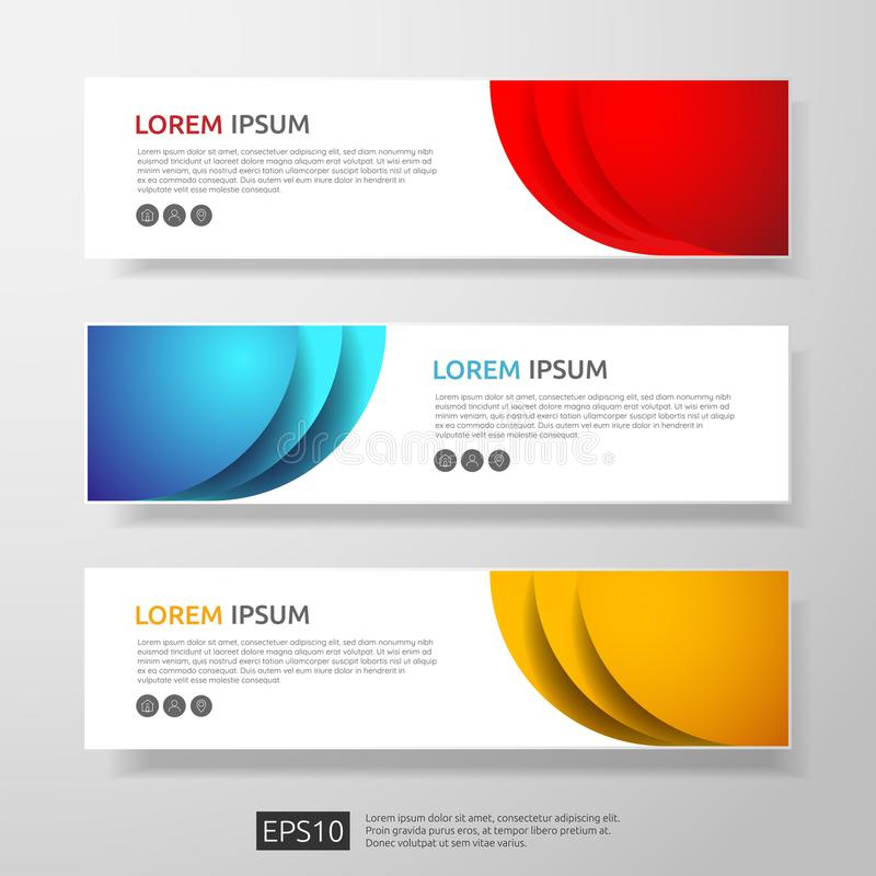 Abstract business header or banner template set with geometric shapes. vector illustration. Abstract business header or banner template set with geometric shapes stock illustration