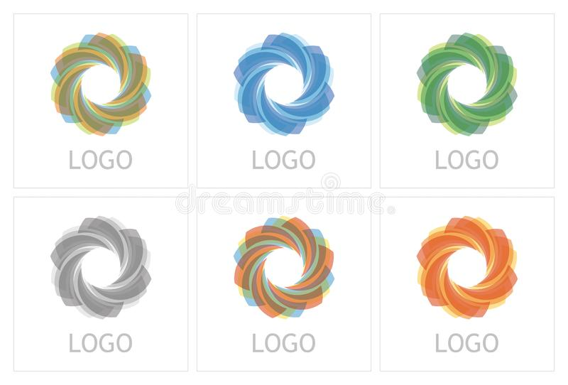 Abstract business icon template royalty free stock photo