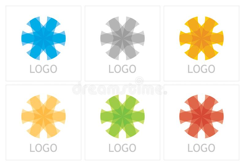 Abstract business icon template stock photos
