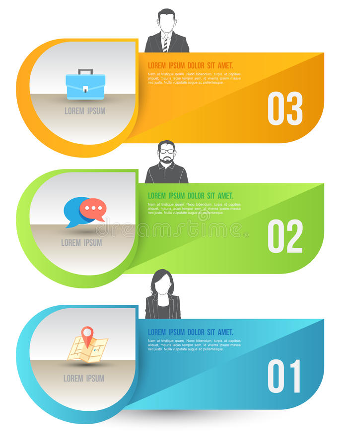 Free Abstract Business Infographics Options Template. Stock Photo - 41319010
