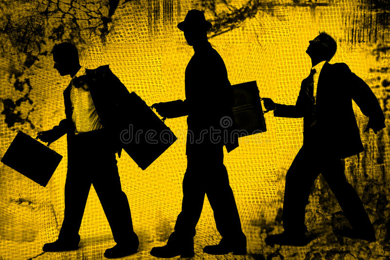 Abstract Business Men stock illustration