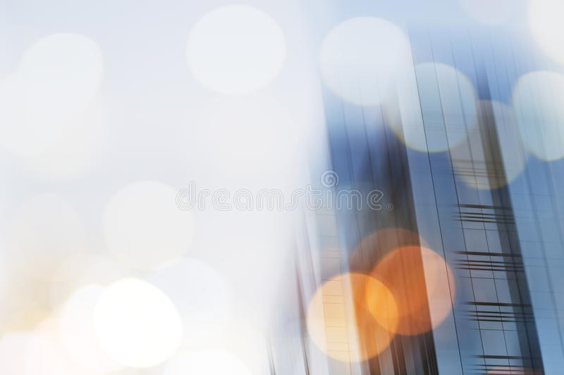 Abstract business modern city urban futuristic architecture background. Real estate concept, motion blur, reflection in stock images