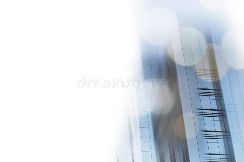 Abstract business modern city urban futuristic architecture background. Real estate concept, motion blur, reflection in royalty free stock image