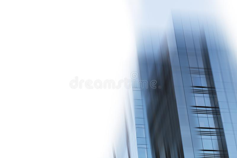Abstract business modern city urban futuristic architecture background. Real estate concept, motion blur, reflection in. Glass of high rise skyscraper facade stock photos