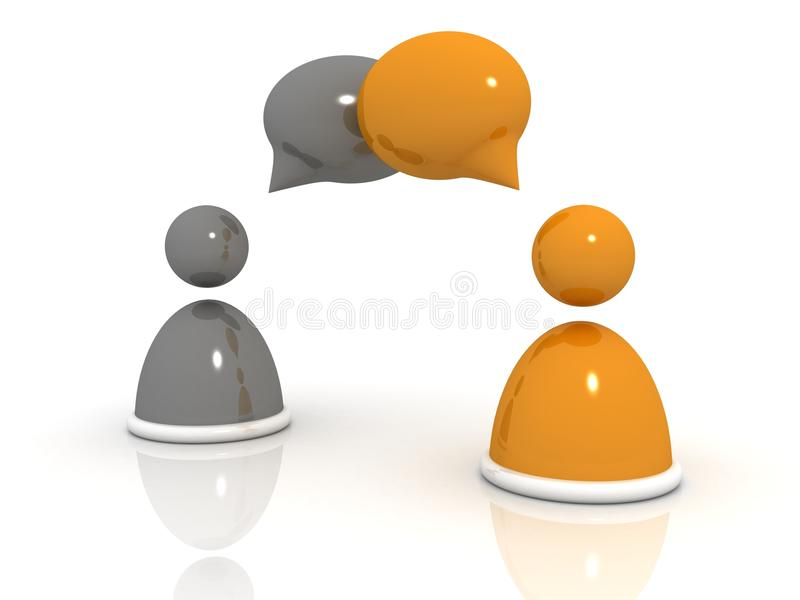 Download Abstract Business People Figures With Speech Bubbl Stock Illustration - Illustration: 20824546