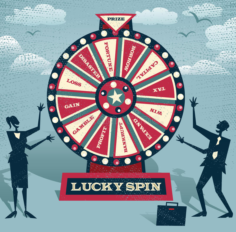 Free Abstract Business People With Financial Wheel Of Fortune. Royalty Free Stock Images - 45994859