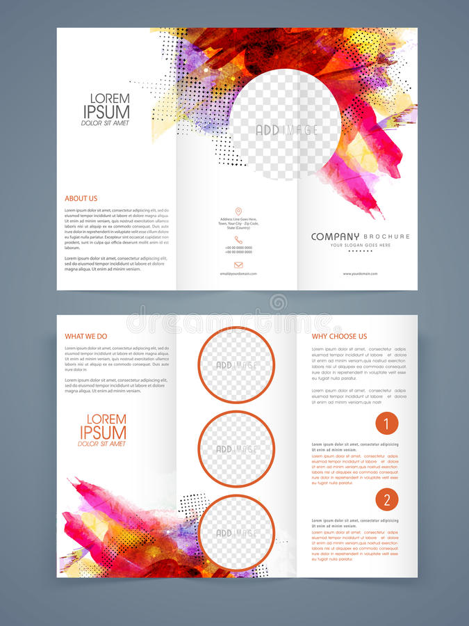 Abstract Business Trifold Brochure Template Or Flyer Stock