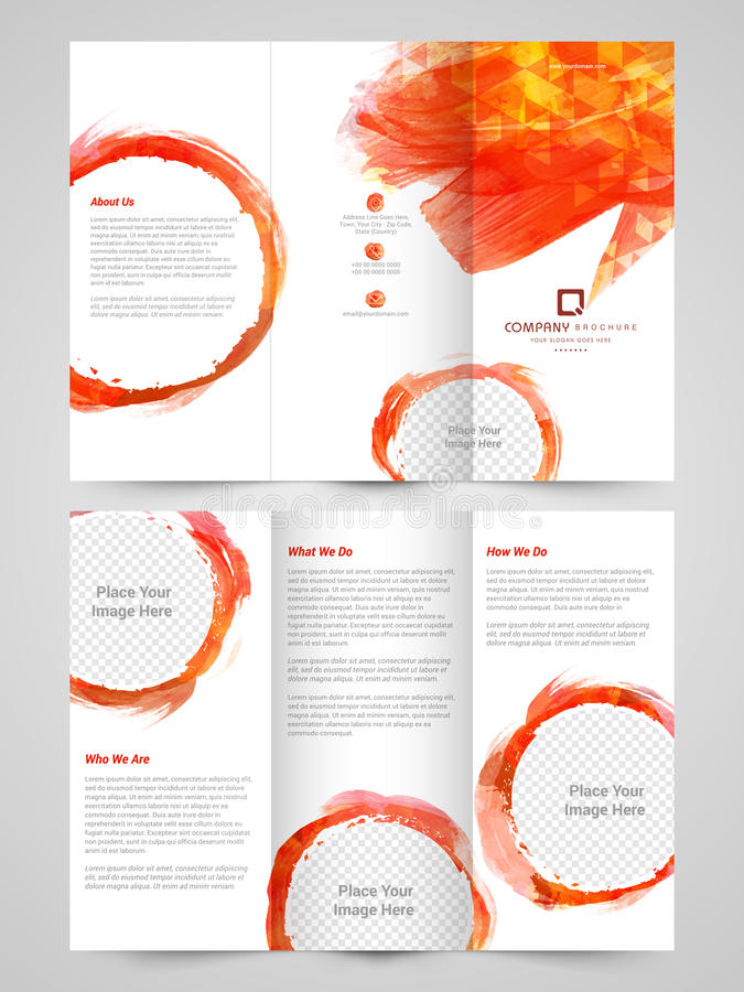 abstract business trifold brochure  template or flyer