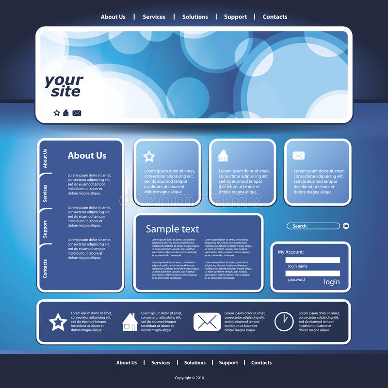 Abstract Business Web Site Design Template Vector vector illustration