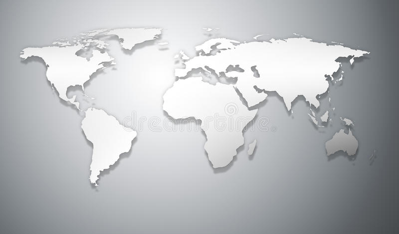 Abstract Business World Map Relief Royalty Free Stock Image