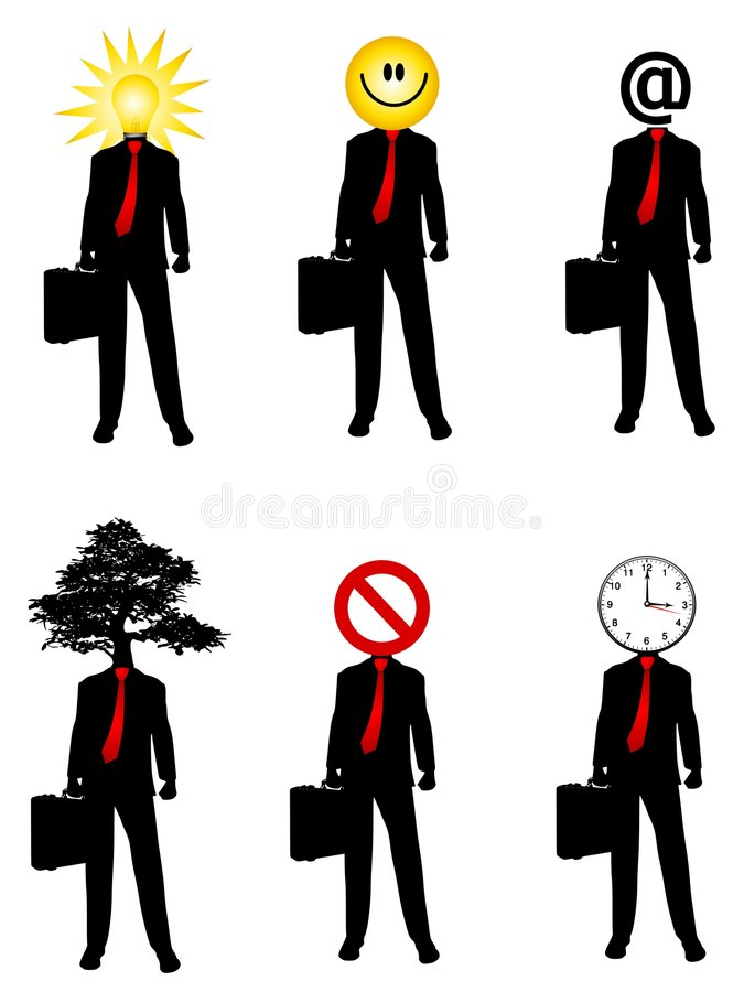 Abstract Businessman Concepts royalty free illustration