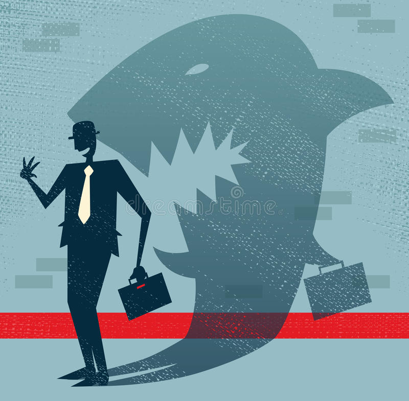 Download Abstract Businessman Is A Shark In Disguise. Stock Vector - Illustration of animal, doom: 35009157