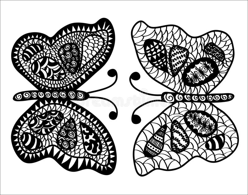 Abstract butterflies stock photography