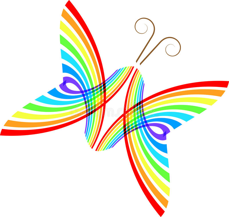 Abstract butterfly vector illustration
