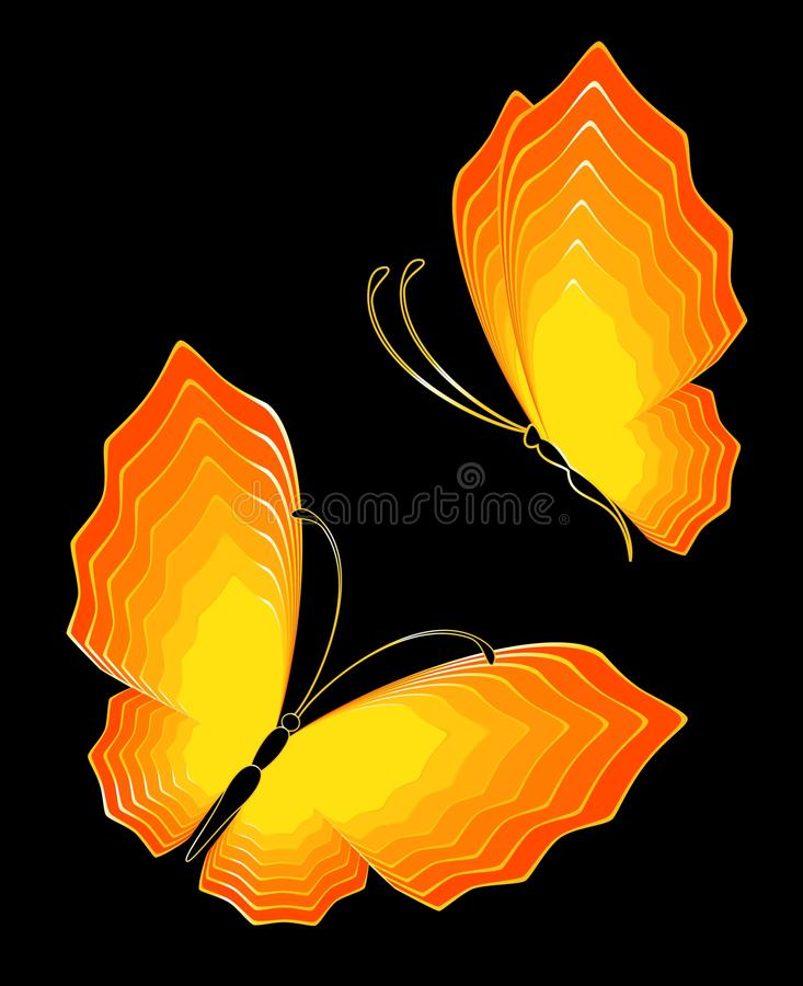 Abstract Butterfly. Beautiful illustration for a design royalty free illustration