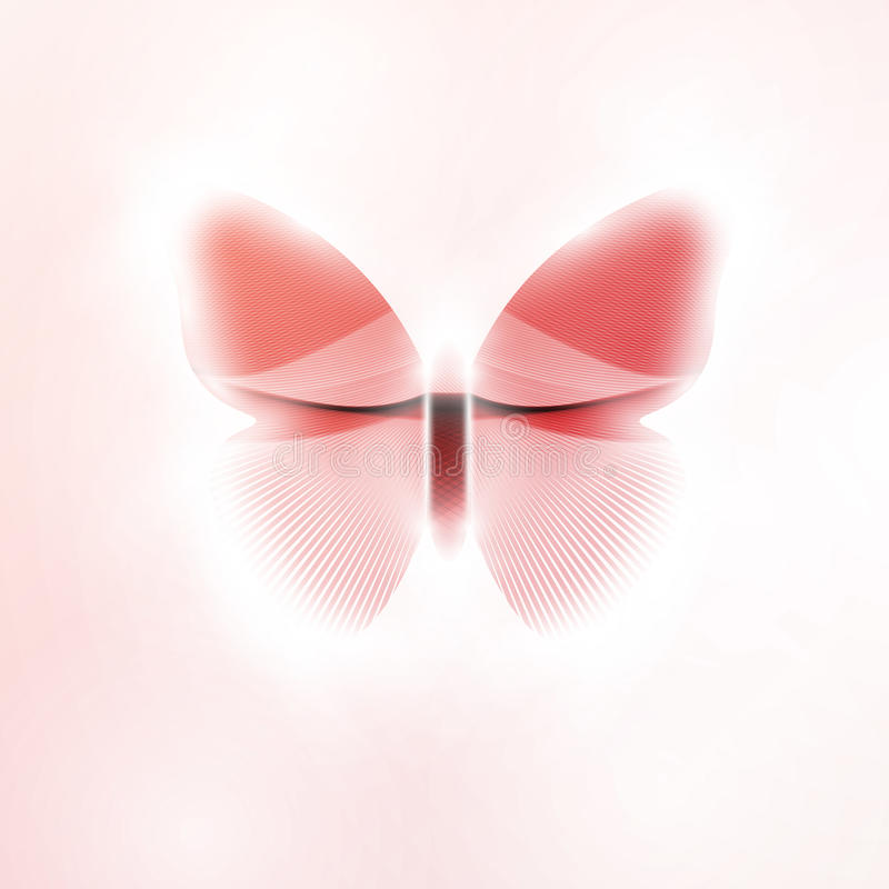 Abstract butterfly. Futuristic illustration in light background royalty free illustration