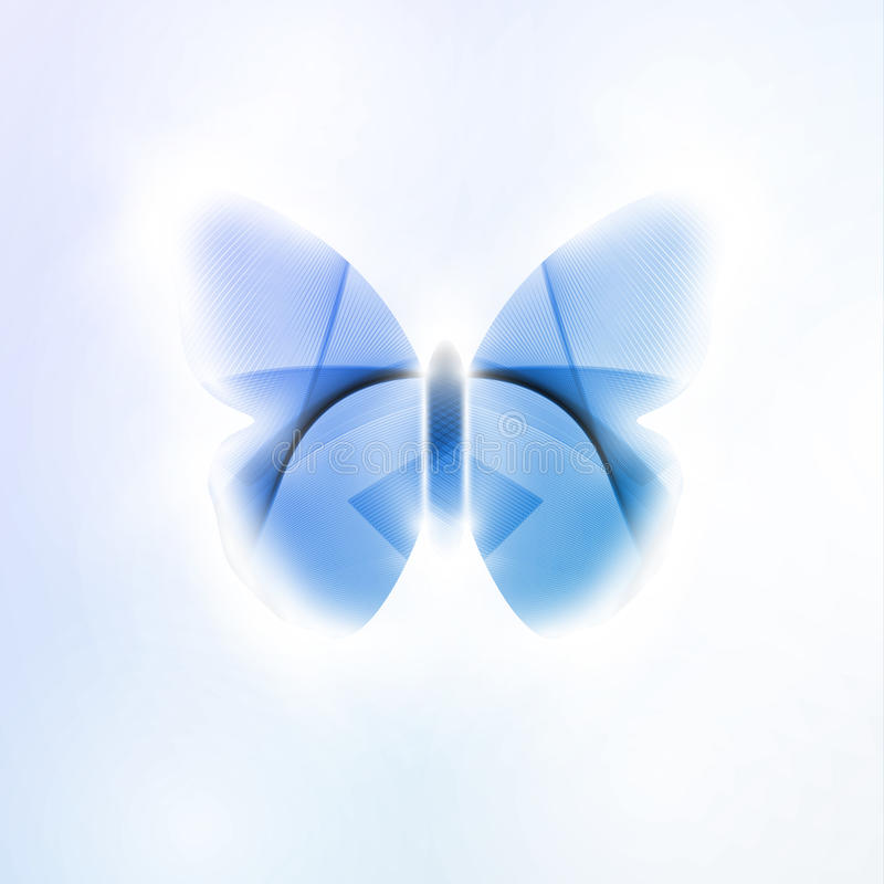 Abstract butterfly. Futuristic illustration in light background stock illustration