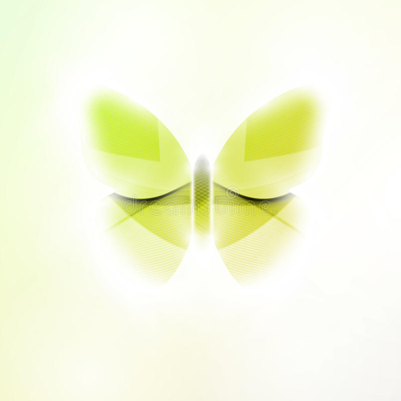 Abstract butterfly. Futuristic illustration in light background vector illustration