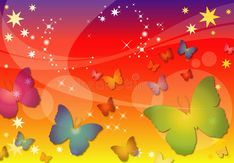 Abstract Butterfly Background stock illustration
