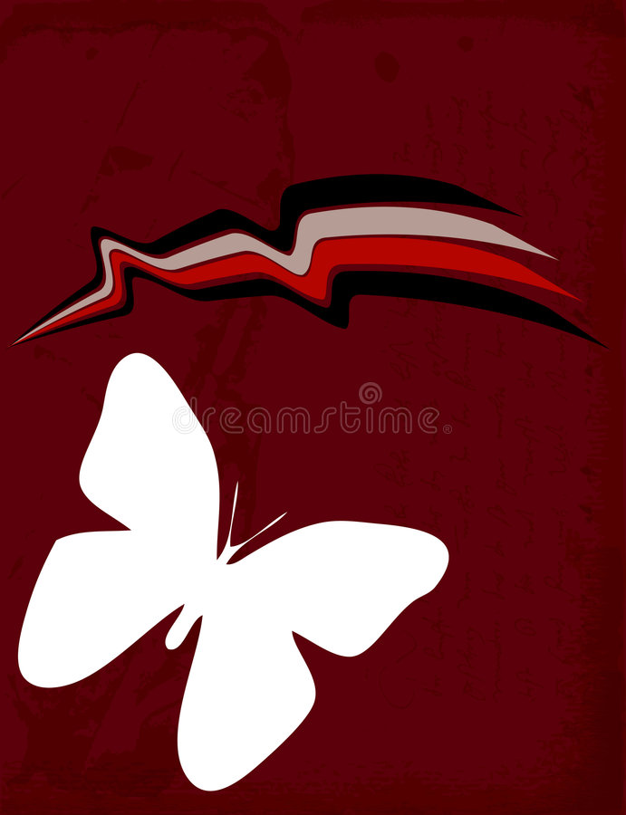 Abstract Butterfly Background. An illustrated background with an abstract design of a butterfly vector stock illustration